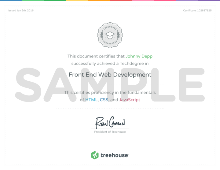 What Does A Techdegree Certificate Look Like Treehouse Community